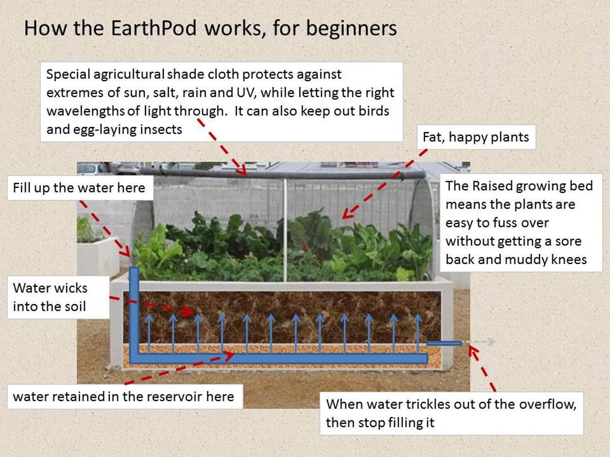 water saving wicking system